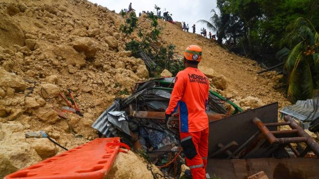 Philippines hit with deadly landslides after super typhoon