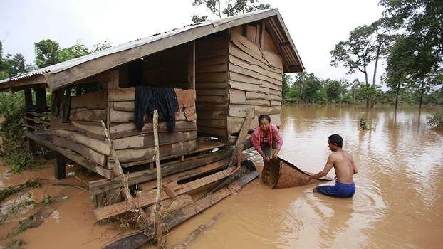 Officials fear the death toll could rise following dam collapse in Laos