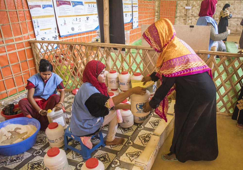 UNICEF and WFP are using technology to improve food and hygiene distribution in Cox's Bazar