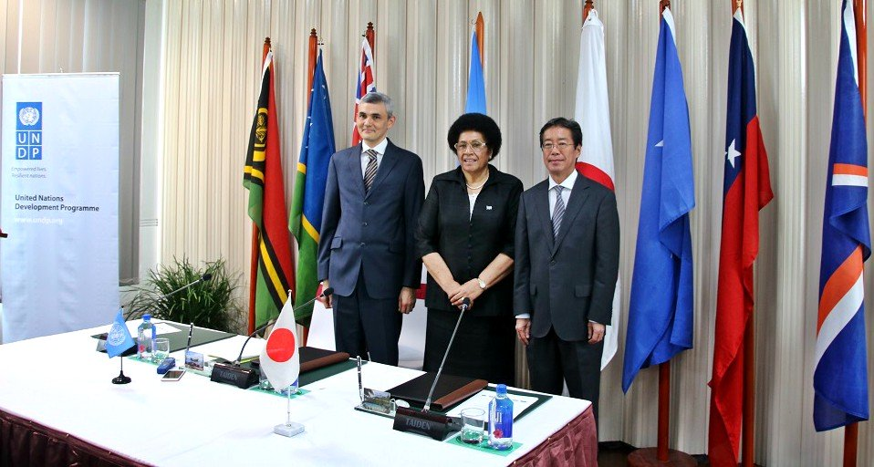 Japan signs $5.2 million agreement with UNDP to support six Pacific nations
