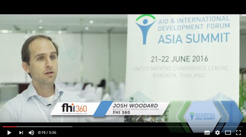 Interview with Josh Woodard, FHI 360